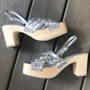 Jeffery Campbell silver sandals